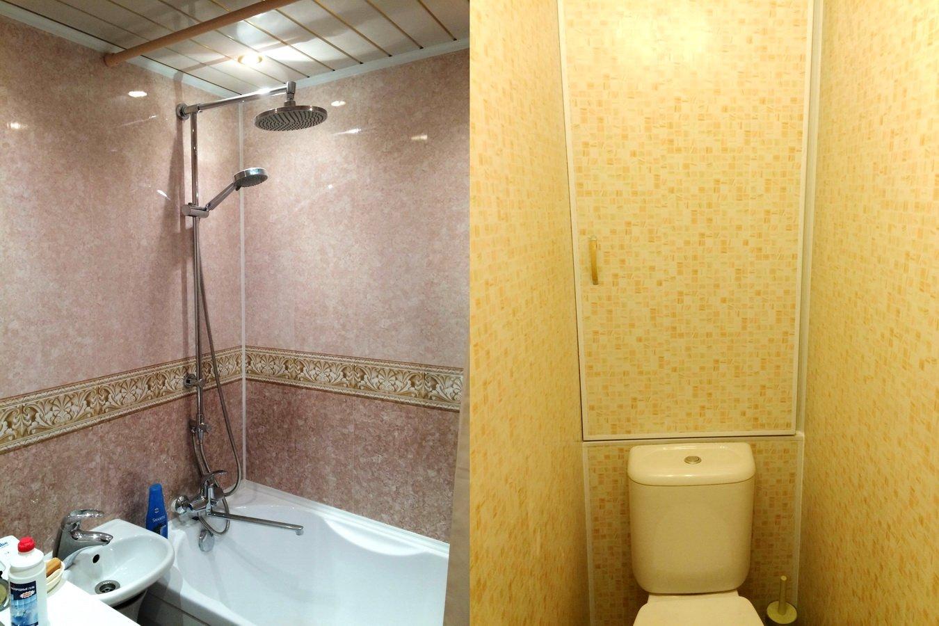 Как сделать туалет и ванну панелями 857